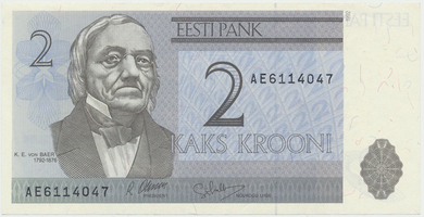 Estonsko, 2 Krooni 1992, P.70a