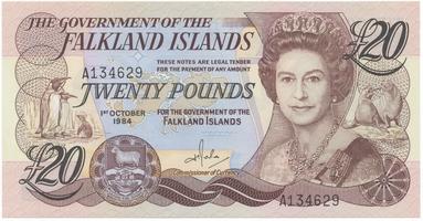 Falklandy, 20 Pounds 1984, P.15a