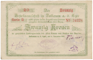 Falkenau (Falknov) - okres, 20 K 1918, HH.46.1.7b