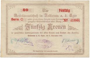 Falkenau (Falknov) - okres, 50 K 1918, HH.46.1.8b