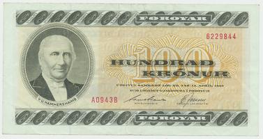 Faerské ostrovy, 100 Krónur 1990-1994, P.21
