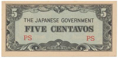 Filipíny - japonská okupace, 5 Centavos (1942), P.103a