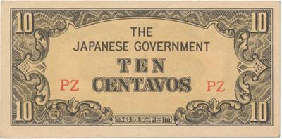 Filipíny - japonská okupace, 10 Centavos (1942), P.104a