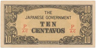 Filipíny - japonská okupace, 10 Centavos (1942), P.104b