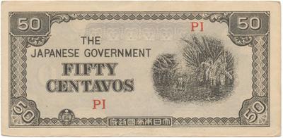 Filipíny - japonská okupace, 50 Centavos (1942), P.105b