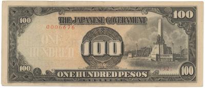 Filipíny - japonská okupace, 100 Pesos (1944), P.112a