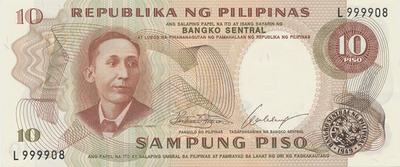 Filipíny, 10 Piso (1969), P.144a