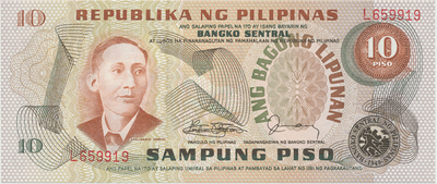 Filipíny, 10 Piso (1978), P.161d