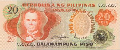 Filipíny, 20 Piso (1978), P.162a