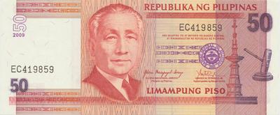 Filipíny, 50 Piso 2009, P.193b