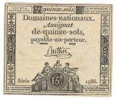 Francie, 15 Sols  4. 1. 1792, P.A56