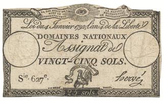 Francie, 25 Sols  4. 1. 1792, P.A55