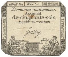 Francie, 50 Sols  4. 1. 1792, P.A56