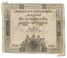 Francie, 15 Sols 24. 10. 1792, P.A65