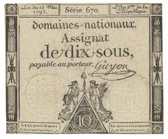 Francie, 10 Sous  23. 5. 1793, P.A68b