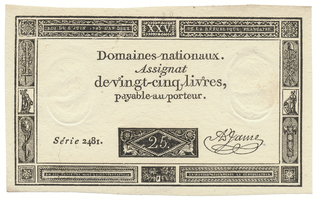 Francie, 25 Livres  6. 6. 1793, P.A71