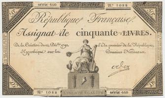 Francie, 50 Livres  14. 12. 1792, P.A72