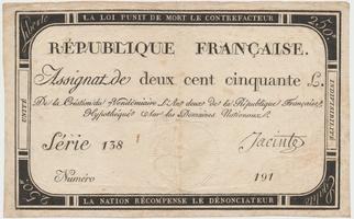 Francie, 250 Livres 1793, P.A75