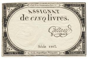Francie, 5 Livres 1793, P.A76