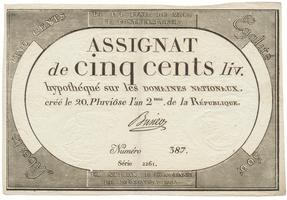 Francie, 500 Livres 1794, P.A77