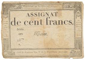 Francie, 100 Francs 1795, P.A78