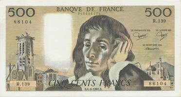 Francie, 500 Francs 1981, P.156e