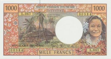 Francouzská Polynesie, 1000 Francs (1996), P.2b