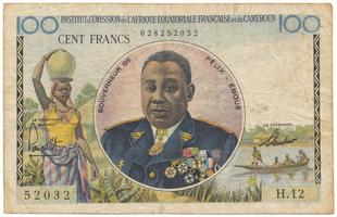 Francouzská Rovníková Afrika, 100 Francs (1957), P.32