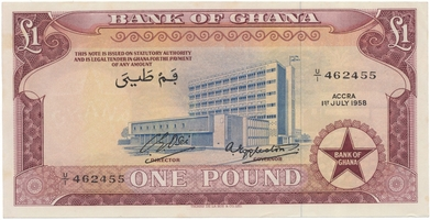 Ghana, 10, 1000, 2000 Cedis 1978~2003, P.16f, 32i, 33e    3 ks