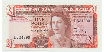 Gibraltar, 1 Pound 1988, P.20e