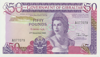 Gibraltar, 50 Pounds 1986, P.24