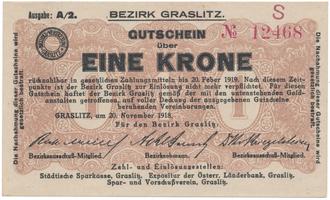 Graslitz (Kraslice) - okres, 1 K  1918, HH.56.1.1d