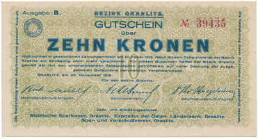Graslitz (Kraslice) - okres, 10 K  1918, HH.56.1.2a
