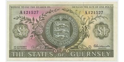 Guernsey, 1 Pound b.d. (1969~1975), P.45a