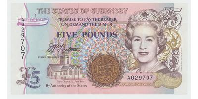 Guernsey, 5 Pounds b.d. (1996), P.56a