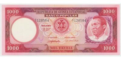 Guinea Rovníková, 1000 Ekuele 1975, P.8
