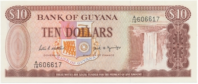 Guyana, 10 Dollars (1989), P.23d