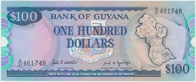 Guyana, 1, 10, 20 Dollars (1966~1996), P.21, 23, 30, 3 ks