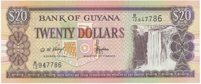 Guyana, 20 Dollars (1996), P.30