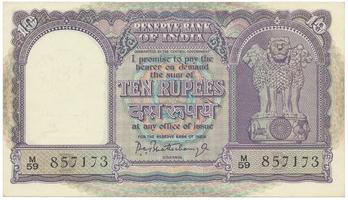 Indie, 10 Rupees (1962~1967), P.40b