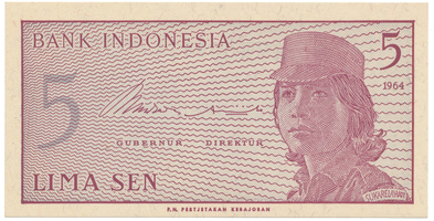 Indonésie, 5 Sen 1964, P.91