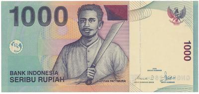 Indonésie, 1000 Rupiah 2000~2013, P.141