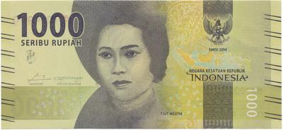 Indonésie, 1000 Rupiah 2016, P.147