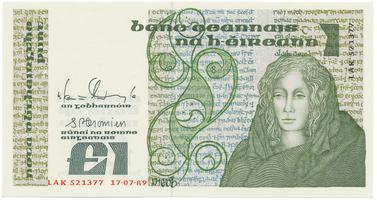 Irsko, 1 Pound 1989, P.70d