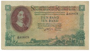 Jihoafrická republika, 10 Rand (1962~65), P.107b