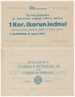 Klatovy - Rosenbaum & Perelis, 1 K 1914, kompletní tiskový aršík, HH.102.1.2TA