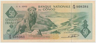 Kongo Dem. Rep., 50 Francs 1962, P.5