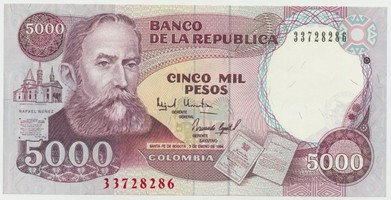 Kolumbie, 5000 Pesos 1994, P.440