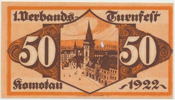 Komotau (Chomutov) - Turnfest, 50 h  1922, HH.105.6.1