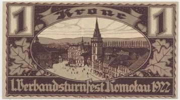 Komotau (Chomutov) - Turnfest, 1 K  1922, HH.106.2.2a